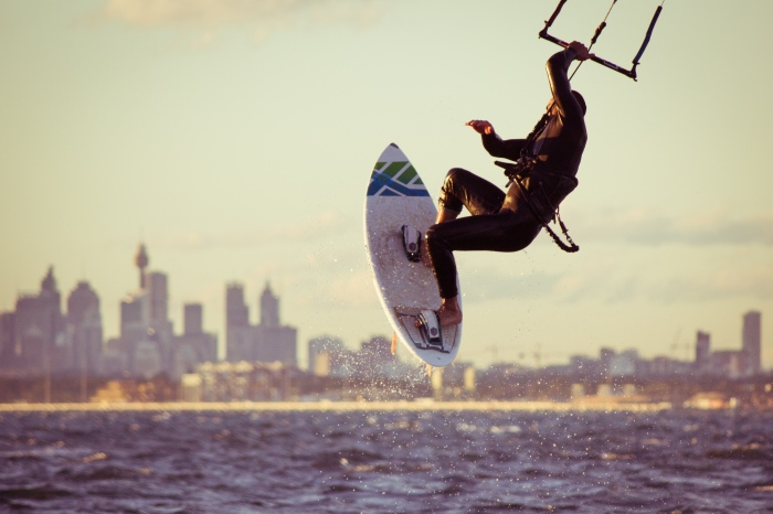 Kitesurfing at Kurnell