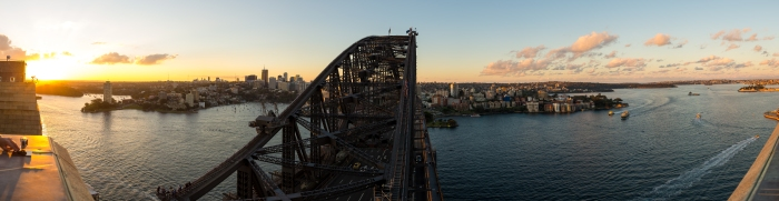 Sydney Harbour Bridge seen from atop the pylon lookout