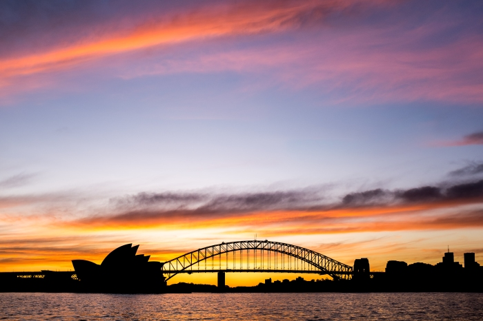 Sydney Sunset view from Mrs Macquire's Chair // Fuji x100s, f/4, 1/170 sec, at 23 mm (= 35 mm full frame)