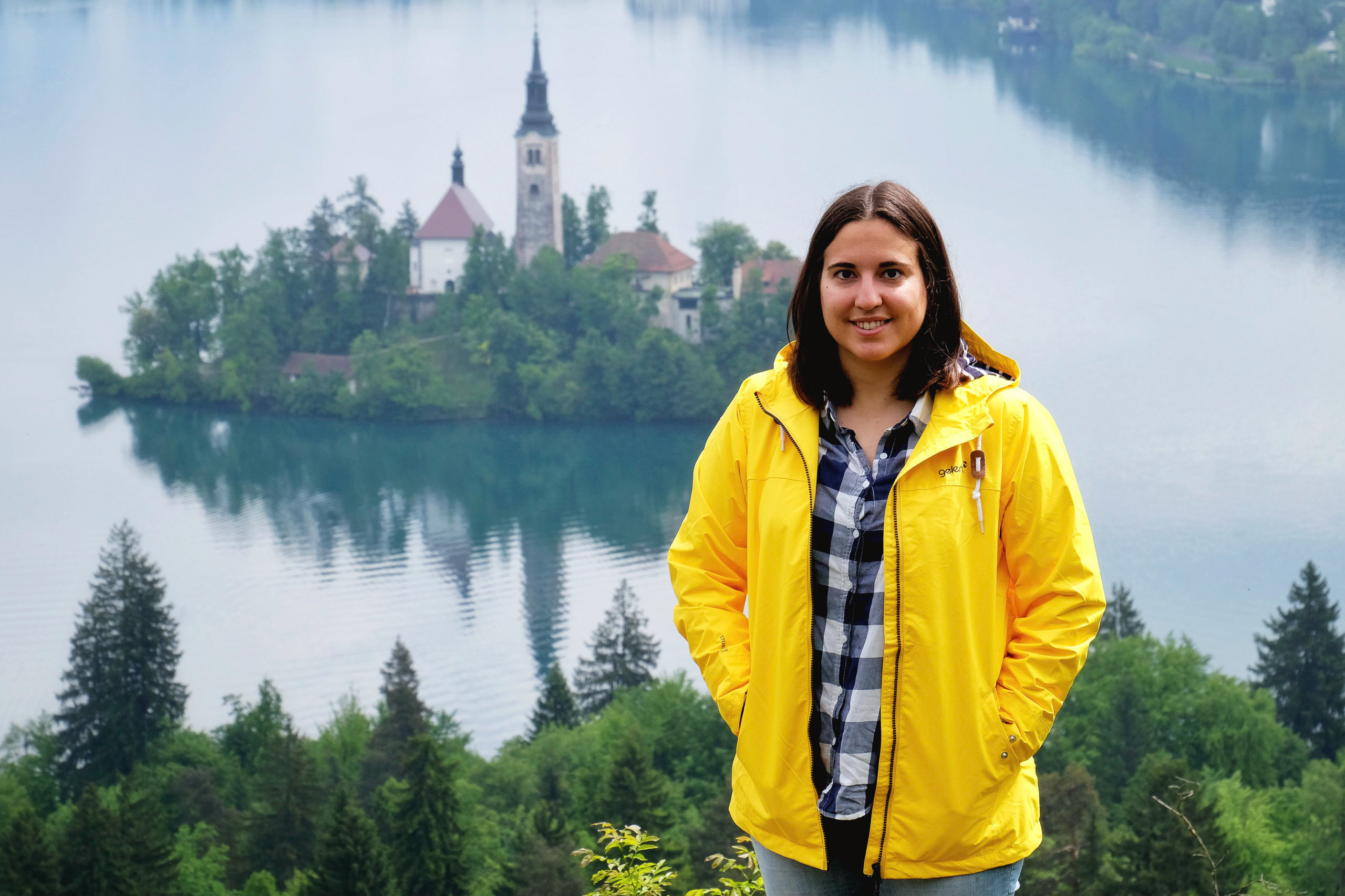 Image of Ana at Lake Bled, Slovenia